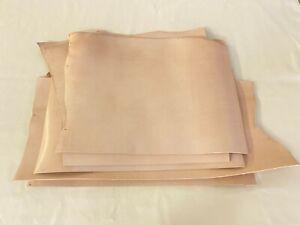 3.5-4mm thick dyed veg tan leather craft - natural & irregular shape