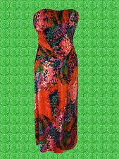 G655 ✪ POP ART 60er 70er anni boho hippie MAXI ABITO DRESS ARANCIONE TG. 40 42 44