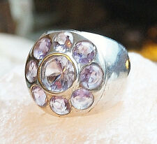 Extrem Mächtig Silberring 59 Handarbeit Amethyst Breit Lila Ring Silber Elegant