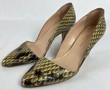 Loeffler Randall Womens Heels Pumps Snakeskin Pointed Toe Size 7.5 B