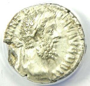 Roman Commodus AR Denarius Silver Coin 189 AD - Certified ANACS XF40 (EF40)