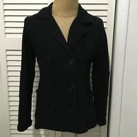 James Perse Women's Blazer Double Breasted Black 100% Cotton USA Size 4
