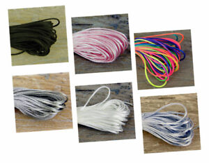 10M of 1mm Rattail Satin Silk Cord Thread - Kumihimo And Macrame Crafts