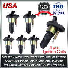 6X Ignition Coil Pack For 02-05 Chevy Trailblazer SUV GMC Canyon Envoy H3 UF303