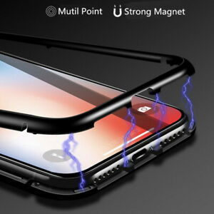 For iPhone  7 8 Plus 11 Pro XS Max XR Case 360 Front & Back Magnetic Glass Cover