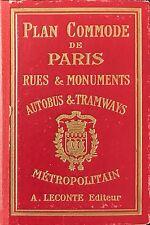 PLAN  COMMODE DE PARIS  RUE ET MONUMENTS AUTOBUS  TRAMWAY ET METROPOLITAIN