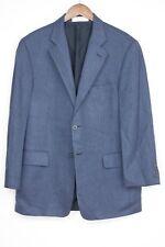 Nordstrom Loro Piana Cashmere Sport Coat 42R Solid Blue Herringbone Weave Jacket