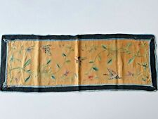 ANTIQUE CHINESE CHINA MANDARIN QING SILK EMBROIDERY TEXTILE HANDCRAFT 1900