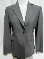 Brooks Brothers 346 Stretch Gray Wool Blend Women's Blazer Size 4