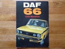 DAF 66 1300 MARATHON BROCHURE - 1973