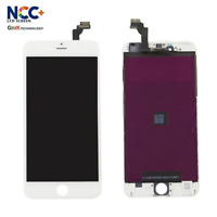DISPLAY LCD + TOUCH SCREEN PER APPLE IPHONE 6 BIANCO PARI ALL'ORIGINALE NCC ESR