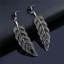 Bohemian Hanging Jewelry Feather Leaves Drop Earring Dangle Ear Stud
