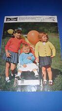Lister LEE Cardigans Tejer patrón de niños 6079