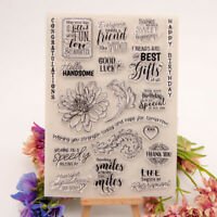 happy birthday transparent clear silicone stamp for diy scrapbooking photo de Hw