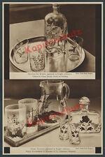 orig Foto-Reklame Glas Kunst Rosenthal München Design Helene Schmidt Percha 1936