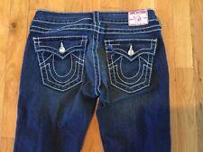 True Religion Denim Jeans Women's Size 27 Disco Joey Big T Rhinestone Buttons