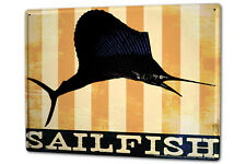 Cartel Letrero de Chapa XXL Diversión M.A. Allen pez vela