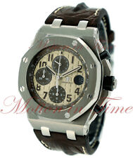 Audemars Piguet Royal Oak Offshore SAFARI Watch 42mm Ivory 26470ST.OO.A801CR.01