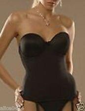 Va Bien UltraLift Longline Convertible Sexy Bustier Bra 1503 36DD Black NWT