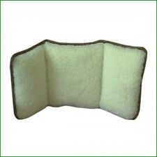WOOL PILE BACK SUPPORT - LUMBAR SUPPORT CUSHION -  FLEECE - DISABILITY AIDS