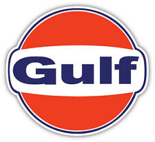 "Gulf Gasoline Gas Station racing sticker decal 4"" x 4"""