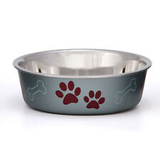 STAINLESS STEEL Non Skid Bella Dog Puppy Designer Bowl