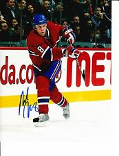 MONTREAL CANADIENS MIKE KOMISAREK SIGNED SHOOTING 8X10