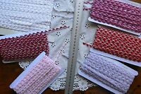 Fancy Rose Bud Poly BRAID 7-8mm 3 & 5 Mtr Lengths - 6 Colour/Type Choice TH1C