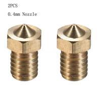 2Pcs V5/V6 Extra Nozzle 0.4mm Extruder Brass 3D Printer Parts Hotend Print M5A1