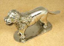 Vintage Lion Nickel Plated Bronze Nutcracker