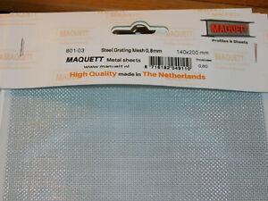MAQUETT 801-03 STEEL GRATING MESH 0.8mm 140x200mm x0.60
