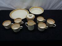 Set Of 10 Mikasa Stone Manor #5800 Platter Bowl Cups Creamer Sugar Dish (OAYG2)