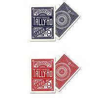 2 mazzi Carte Tally-Ho Circle Back (Blu-Rosso)