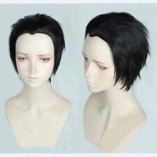 YURI!!! on ICE Katsuki Yuuri Short Black Styled Cosplay Wig Heat Resistant Hair