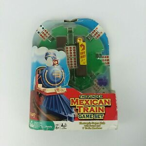 Fundex Mexican Train Game Set for Dominoes - New (Package Wear -See Photos)
