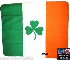 USA MADE IRELAND Irish Flag Shamrock Clover Polar FLEECE Throw Stadium BLANKET