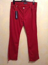 "BNWT⭐️CERRUTI JEANS ⭐️ W 36"" L 33"" (Size 18) ITALY FAB DESIGNER RED JEANS WEAR"