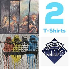 2 Doctor Who 2012 T-Shirt Lit Marvel Comic Sci Fi Black Ripple Junction Size M L