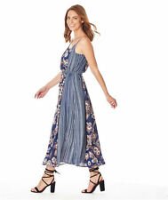 Studio East Katie's Blue romantic floral Maxi DRESS size 16 NEW story K + belt
