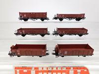 CM506-1# 6x Liliput H0/DC Güterwagen DB/DRG NEM Federpuffer: Ommru etc, s.g.