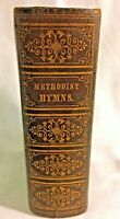 Antique Methodist Hymns Leather Bound Pocket Lettie Coombe 19th Century 1869