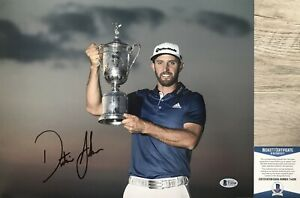 US OPEN CHAMP!!! Dustin Johnson PGA Signed PEBBLE BEACH 11x14 Photo #2 Beckett
