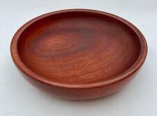 """Hand turned 8"""" Padauk wooden bowl"""
