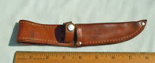 "Case XX Brown Leather Knife Sheath for 3 FINN 4"" Deep Made in U.S.A. used"