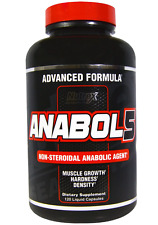 NEW NUTREX RESEARCH LABS ANABOL 5 BLACK BUILD MUSCLE GET STRONGER BE LEANER CAPS