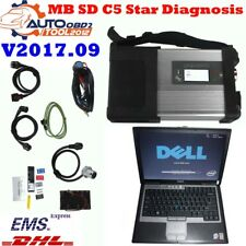 Latest V2017.09 OBD2 MB Star SD C5 Connect With WIFI Diagnostic Tool+Laptop D630