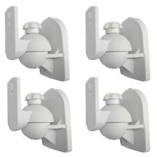 4 Pack Lot White Wall Speaker Mount for Klipsch Onkyo Sony Pyle LG RCA Bose Cube
