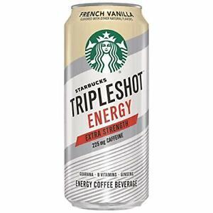Starbucks Tripleshot Energy Extra Strength French Vanilla15 Fl Oz Pack of 12