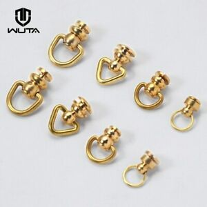 WUTA Brass Ball Chicago Stud Screw Rivets Nails Rotatable D Ring Chain Buckle