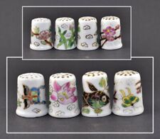 4 ORIENTAL HAND PAINTED THIMBLES